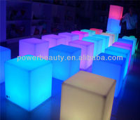portable PE led glow cube seat rechargeable