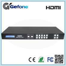 4x4 HDMI Matrix with HDMI and Cat Outputs Supporting IR Remote and EDID Control