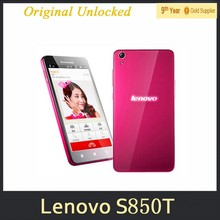 Original Unlocked Lenovo S850T Smart Phone 16G ROM 1G RAM 5.0 Inch Android 4.4 Quad Core GSM Dual SIM 13MP Camera Cellphones