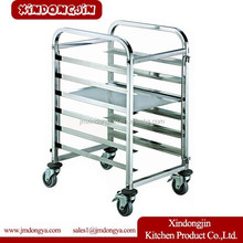 LR-10A hotel and restaurant cake cart,stainless steel service bread cart