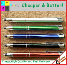 2015 Promotional pen, logo printed or lasered stylus metal pen click metal pen