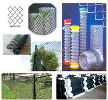 PVC Coated Chain Link Fence Price/Electro Galvanized Iron Fence