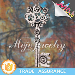Ancient Story White Heavy Chain Key Heart Necklace Wholesale