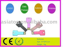Hotsell ,low price key usb flash drive with nice laser logo or printing