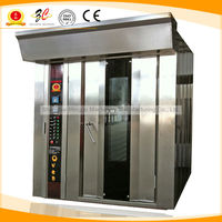 CE IMPORED burner FREE trolley Gas/diesel/electrical steel Rotary convection oven/ bakery/ bake/baking equipment for sale