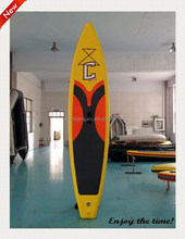 12.6' yellow color hot selling surfboards on ocean nice sup board for you