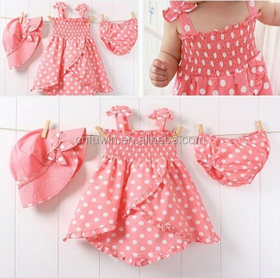 Baby Girl Dress Cutting Pattern Baby Dress Cutting Pink Polka
