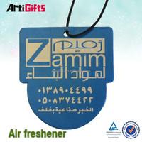 Hot selling hanging paper air freshener hanging cardboard air
