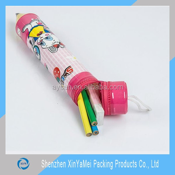 fashion double zipper pencil pouches wholesale