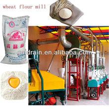 Maquinas moledoras de trigo para producir harina, con líneas de producción.