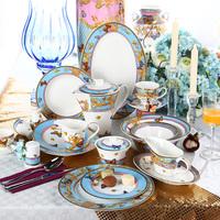 124 Pieces Luxury Turkish Dinner Set Fine Bone China