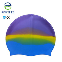 China Wholesale Protective Cap Silicone Swimming Caps For Long Hair Make A Swim Cap
