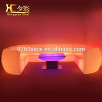 Luminous Plastic LED Sofa Living Room Swimming Pool Outdoor Couch