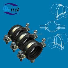 High Quality Rubber Liner Split Pipe Clamp