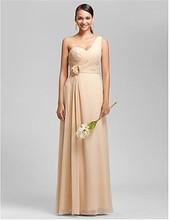2015 Elegant Dress One Shoulder Chiffon Evening Dress Porm