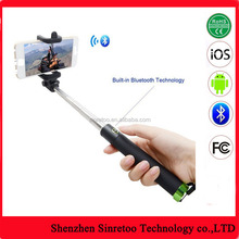 Monopod tripod selfie stick with bluetooth selfie stick private label
