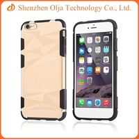 Custom transparent mobile phone case with silicone middle frame for iPhone 6