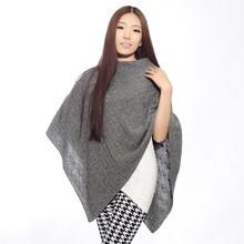 Mujeres con capucha poncho de lana