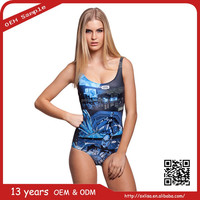 Wholesale Fantasy Jellyfish 3D Digital Printed Sexy One Piece Swimsuit Swimwear 2015 Bathing Suit Swim Suits for Women