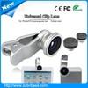 For cell Phone Universal Clip 180 degress Fish eye lense 10x Macro lens 0.67x Wide Lens 2015 Fisheye camera lens