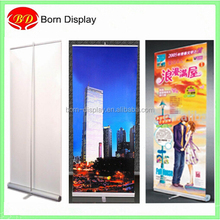 Superior workmanship thickened aluminum banner stand roll up screen one feet