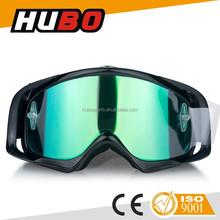 Black TPU frame REVO tinted lens fashion style motorcycle protected MX goggle