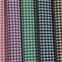 polyester different size check hard feeling yarn dyed fabric for Kenya school uniform