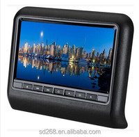 Removable headrest dvd player with Wide LCD screen with MP5 Player 9 inch HD Digital screen FM/IR Game USB headrest