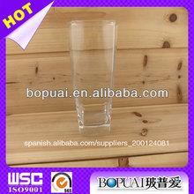 venta al por mayor de buena calidad de fondo cuadrado de vidrio para beber