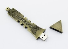 With a long history landmark building metal usb flash drive