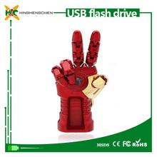 USB flash drive manufacturing machine 32gb usb flash drive Iron Man Hand Model