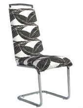 Superior Fabric Flower Printing and Dyeing Designer Dining Chairs CY008