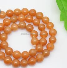 good luster many girls love 8mm beautiful orange color natural gemstone bead
