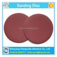 Velcro apoiado papel abrasivo discos para lixadeira de disco