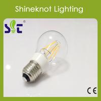 Wholesale led sensor light 6W A60 tungsten Filament E26 E27 B22 LED light bulbs