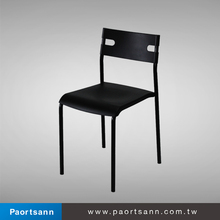 2015 must-buy black cheap plastic dinning room chair