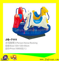 Children plastic horse rocking with wheel