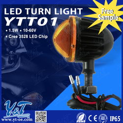black/white optional led turn work light lamp 1.5w led car front light off road motorcycle headlight