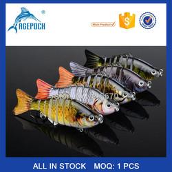 "New 2015 Proberos 7 Sections Fishing Lure 5pc/lot 10cm/4"" 0.55oz/15.5g Swimbait Fishing Bait Chinese Sea Fishing Tackle"