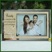 Fashion Design Funny Glass Photo Frame For Family
