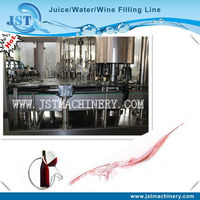 grape wine glass bottle washing filling and capping equipment