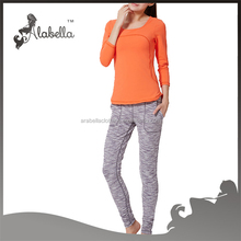 Autumn or winter breathable fitness&yoga wear for women long sports wear sets