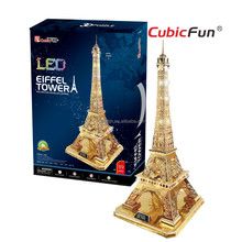 Eiffel Tower 3D Puzzle World Architecture Model with LED Light