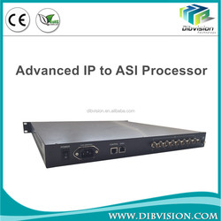 Integrates up to 250 separate IP input and 8 x ASI out multipexer