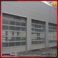 transparent sectional aluminum glass garage door from Golden supplier
