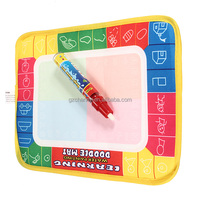 High Quality 29 x 19cm 4 color Water Painting Learning Education Toys Mat Water Drawing Board Baby Play Mat + 1 Magic Pen