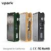 Vpark 5~40W box mod temperature control box mod e cigarette box mod,18650 battery ego vaporizer mod,stainless steel tank box mod