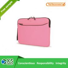 2015 simple cheap neoprene pink laptop bag sleeve with handle