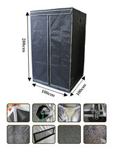 3.3'x3.3'x6.5' (100x100x200) Garden Grow Tent Portable Dark Room