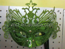 Party carnival decoration cheap green feather masquerade venetian mask MSK205